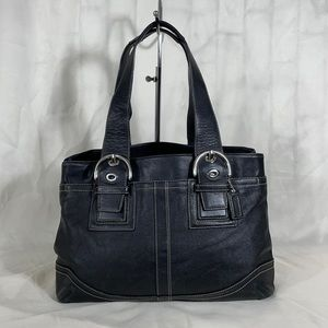Coach Black Buckle Soho Tote Bag Handbag Purse